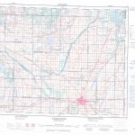 Printable Topographic Map Of Saskatoon 073B, Sk Throughout Topographic Map Printable