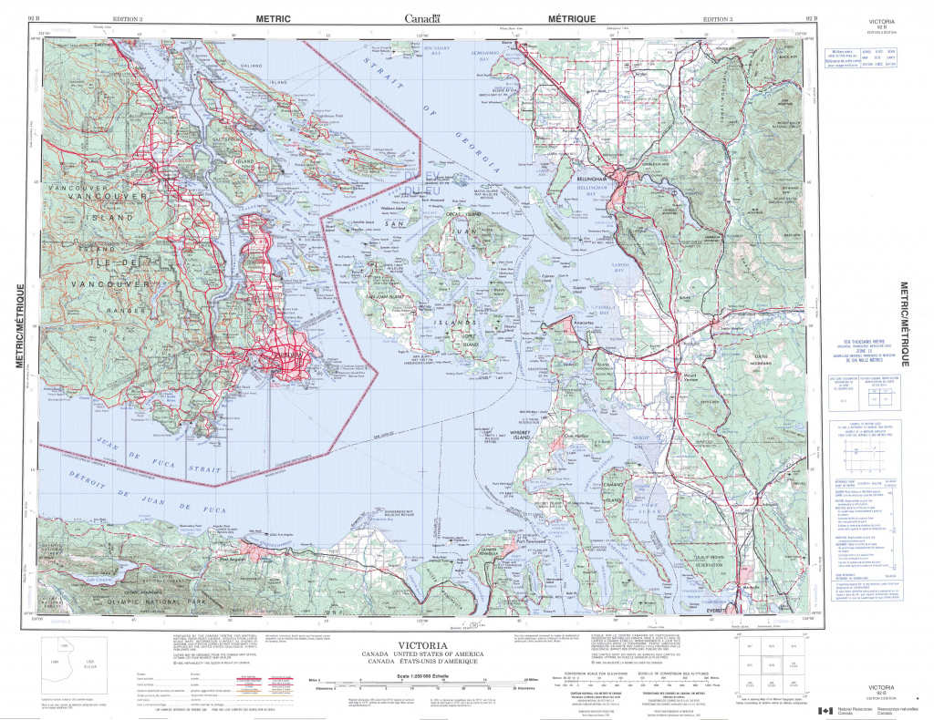 Printable Topographic Map Of Victoria 092B, Bc - Free Printable Topo in Free Printable Topographic Maps