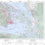 Printable Topographic Map Of Victoria 092B, Bc   Free Printable Topo With Regard To Printable Map Of Bc