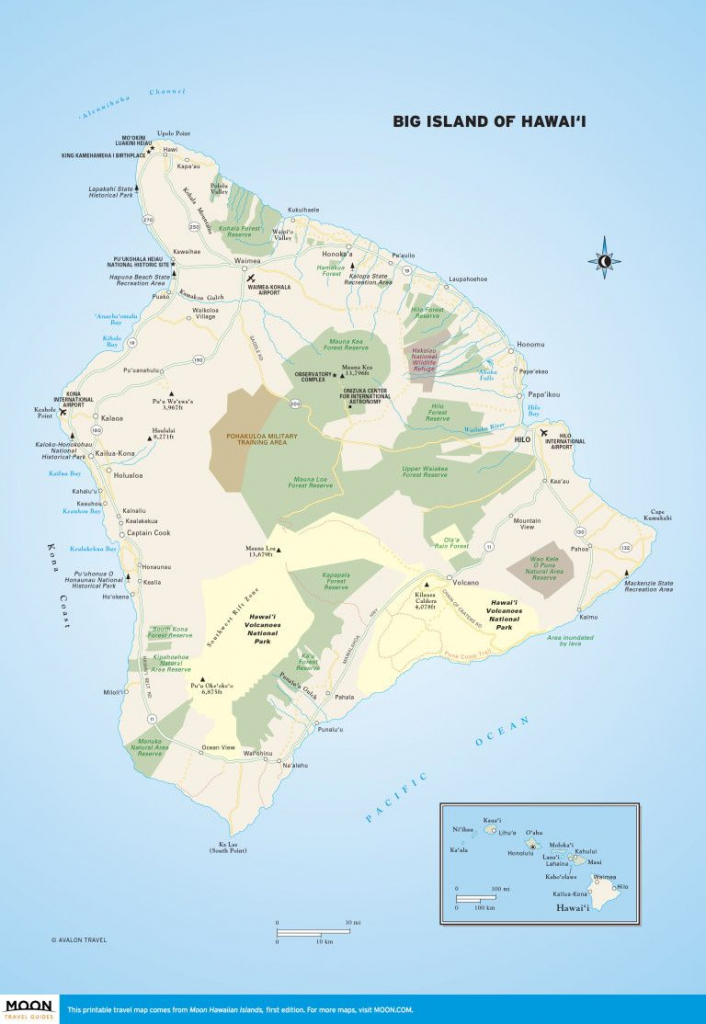 Printable Travel Maps Of The Big Island Of Hawaii In 2019   Scenic intended for Printable Map Of Maui
