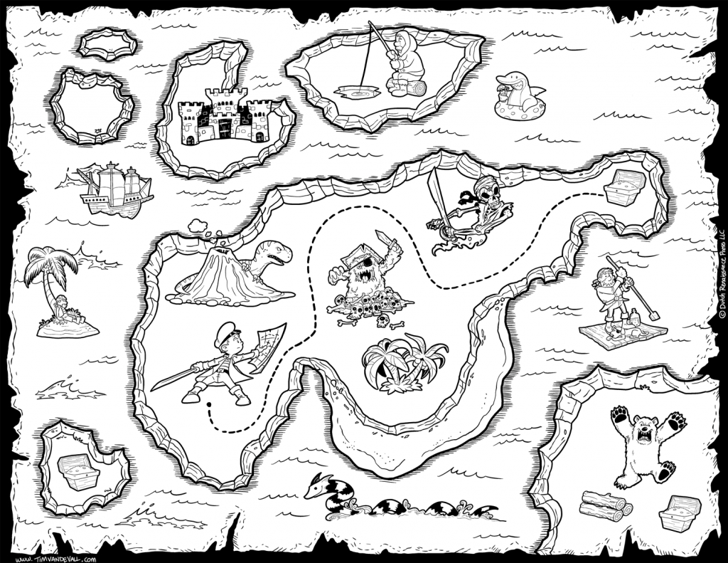 Printable Treasure Map Coloring Pages Map Coloring Pages World Map regarding Printable Treasure Map Coloring Page