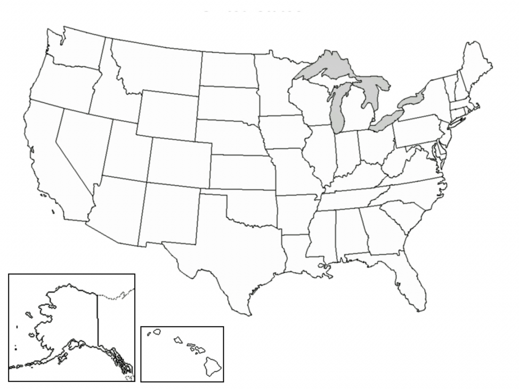 Printable United States Map Blank New A Blank Map The United States regarding Free Printable Blank Map Of The United States