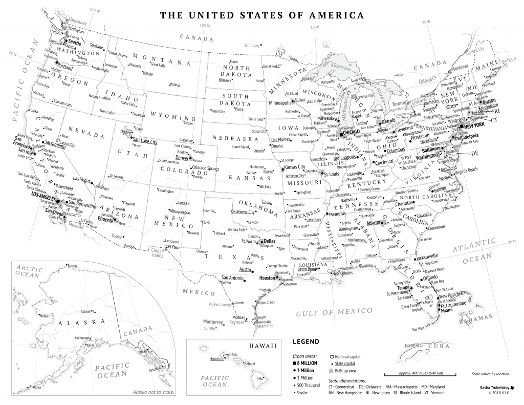 Printable United States Map – Sasha Trubetskoy throughout Us Map With Cities And States Printable