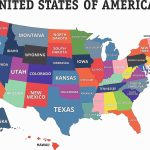 Printable United States Map With States Labeled Inside Us Map With States Labeled Printable