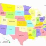 Printable Us Map Quiz States And Capitals New United States Map Quiz Inside Printable Us Map With States And Capitals