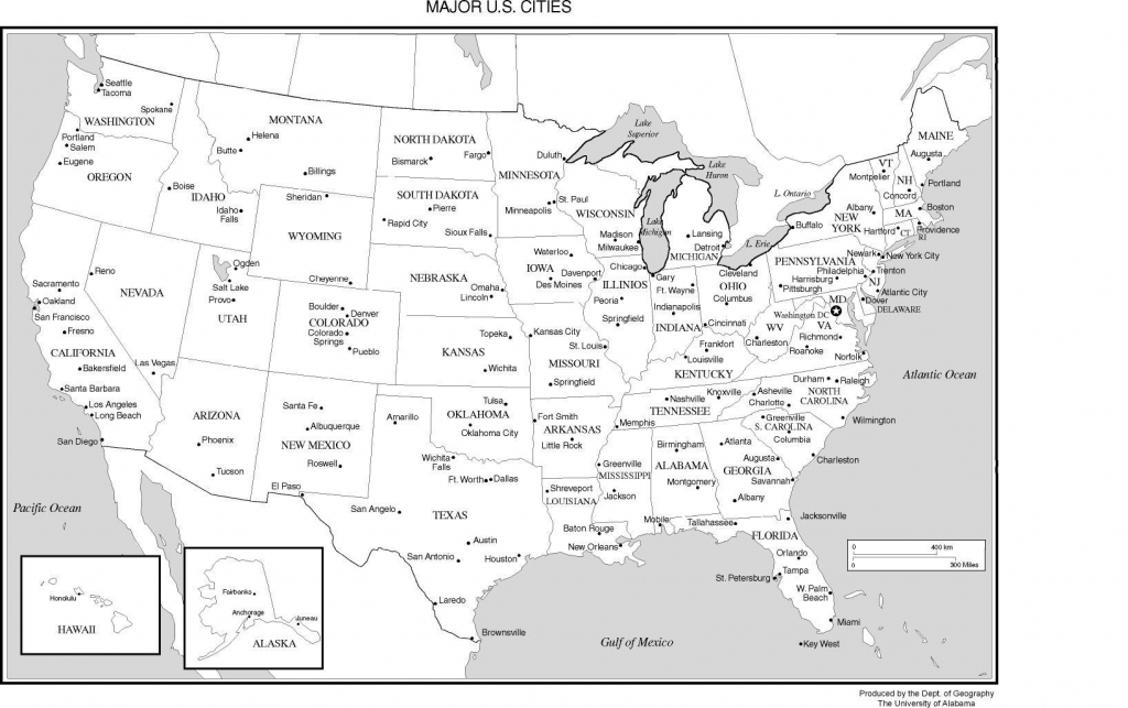 Printable Us Map With Major Cities And Travel Information   Download within Printable Us Map With Cities