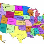 Printable Us Map With States And Capitals Labeled New Printable Map Intended For Printable Usa Map With Capitals