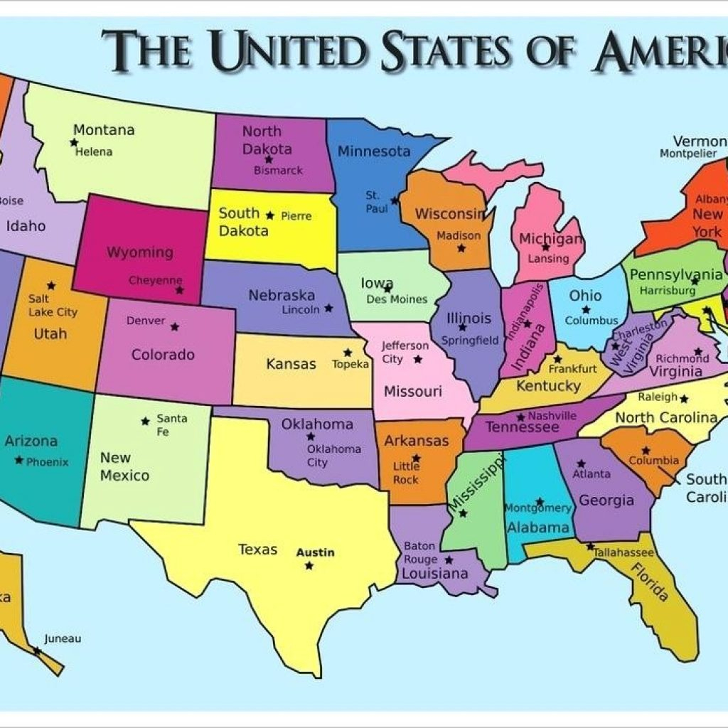 Printable Us Map With States And Capitals Test Your Geography intended for Printable Us Map With Capitals