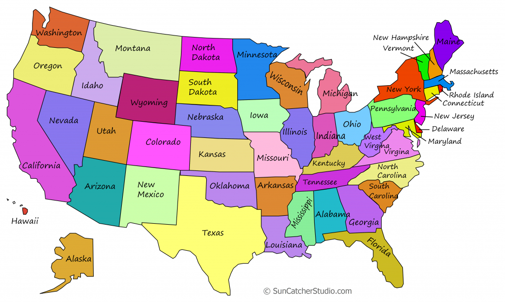 Printable Us Maps With States (Outlines Of America - United States) within United States Map Of States Printable