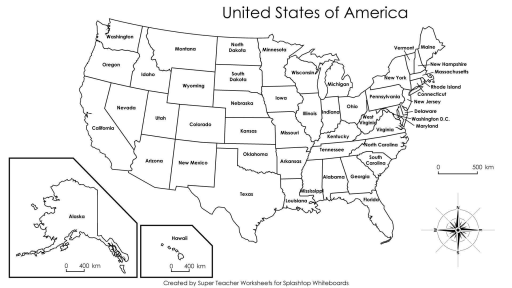 Printable Us State Map Blank Us States Map Fresh Printable Us Map To pertaining to Printable Usa Map With States