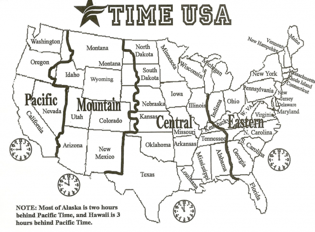 Printable Us Timezone Map With Cities Fresh Printable Us Map With intended for Printable Us Time Zone Map With Cities