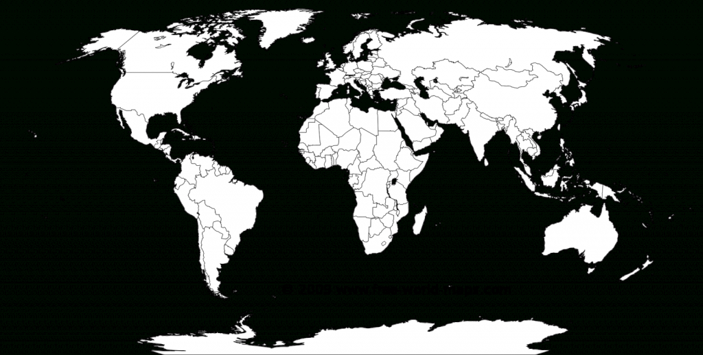 Printable White-Transparent Political Blank World Map C3 | Free throughout Free Printable World Map Outline
