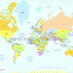 Printable World Map | B&w And Colored With Regard To World Map Printable A4