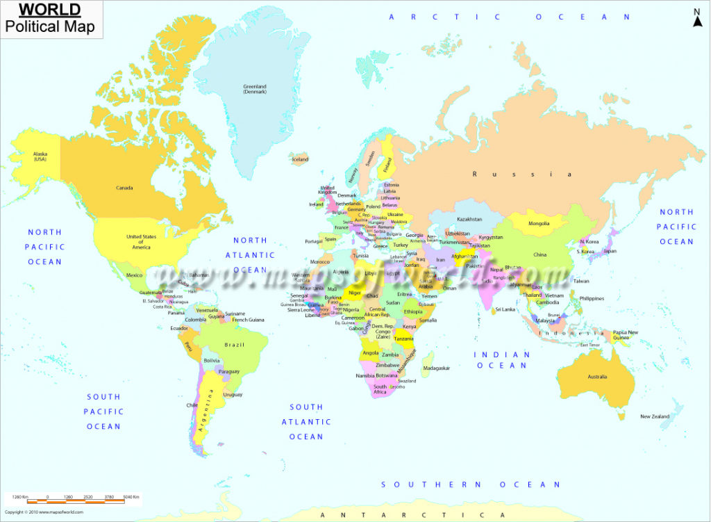 Printable World Map | B&w And Colored with regard to World Map With Capital Cities Printable