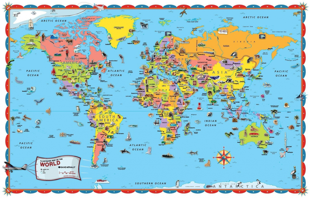 Printable World Map For Kids Incheonfair Throughout For Printable pertaining to Printable World Map With Countries For Kids