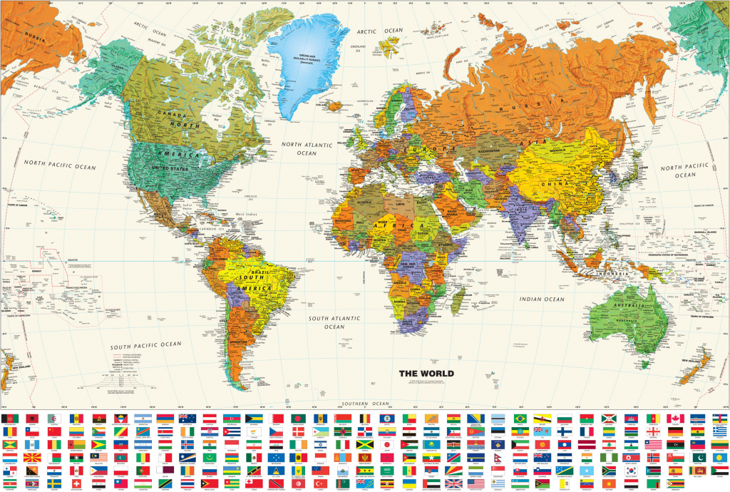 Printable World Map Posterinspiration Graphicworld Map Poster regarding Free Printable Large World Map Poster