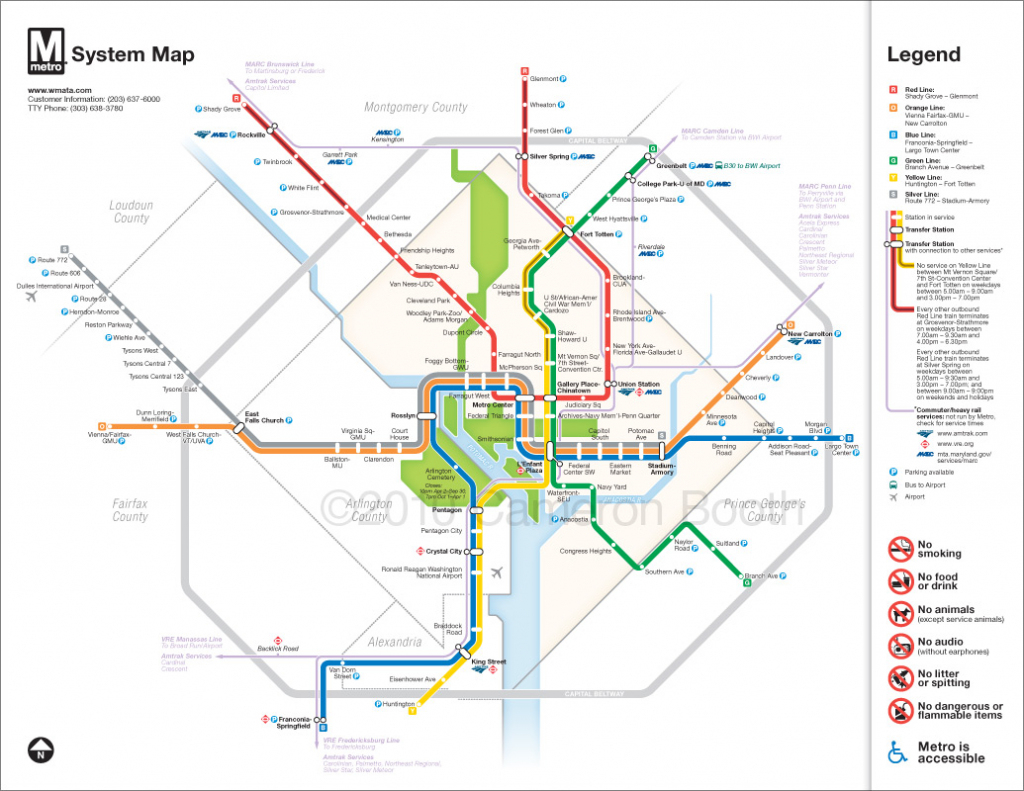 Project: Washington Dc Metro Diagram Redesign – Cameron Booth within Printable Washington Dc Metro Map