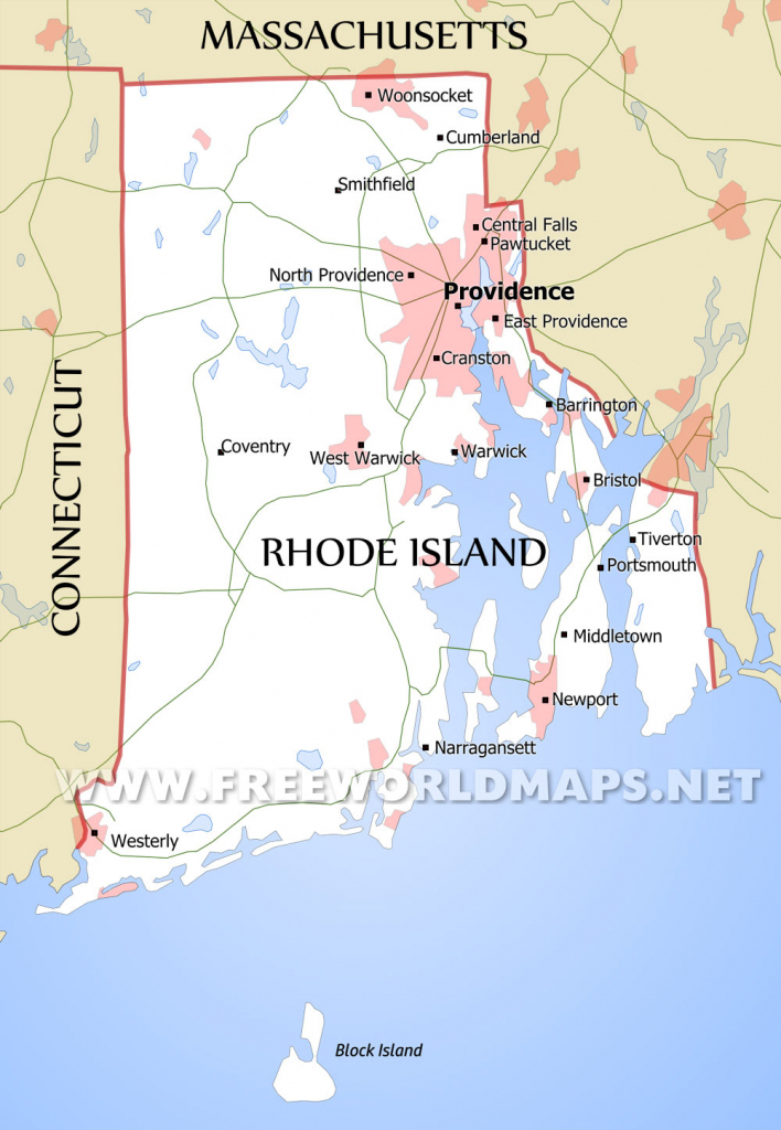 Rhode Island Maps within Printable Map Of Rhode Island