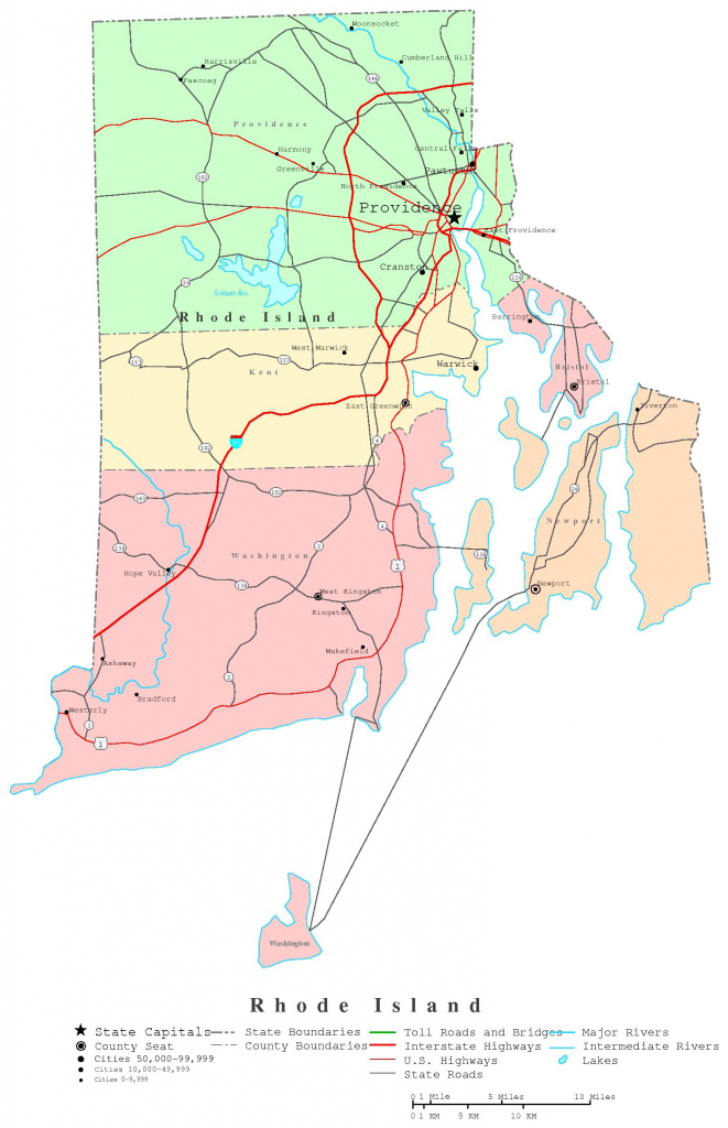 Rhode Island Printable Map throughout Printable Map Of Rhode Island
