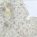 Road Map 5   East Midlands & East Anglia In Printable Map Of East Anglia