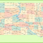 Road Map Of South Dakota With Cities With Regard To Printable Map Of South Dakota