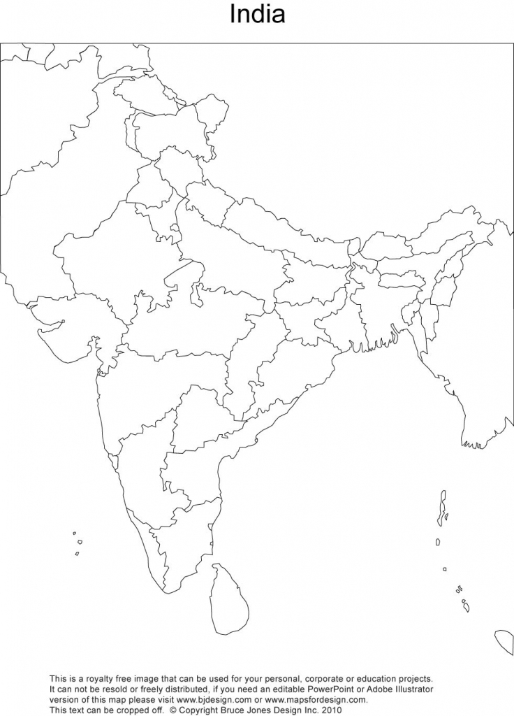 Royalty Free, Printable, Blank, India Map With Administrative regarding India River Map Outline Printable