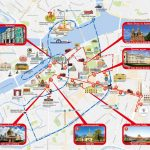 Saint Petersburg Attraction Map   Map Of St Petersburg Russia In Printable Map Of St Petersburg Russia