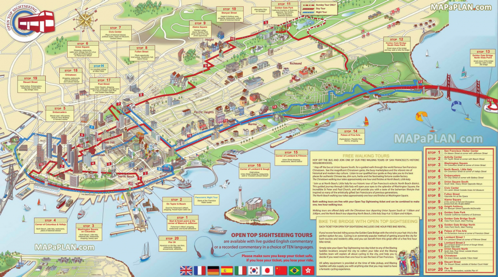 San Francisco Maps - Top Tourist Attractions - Free, Printable City pertaining to Chicago Tourist Map Printable