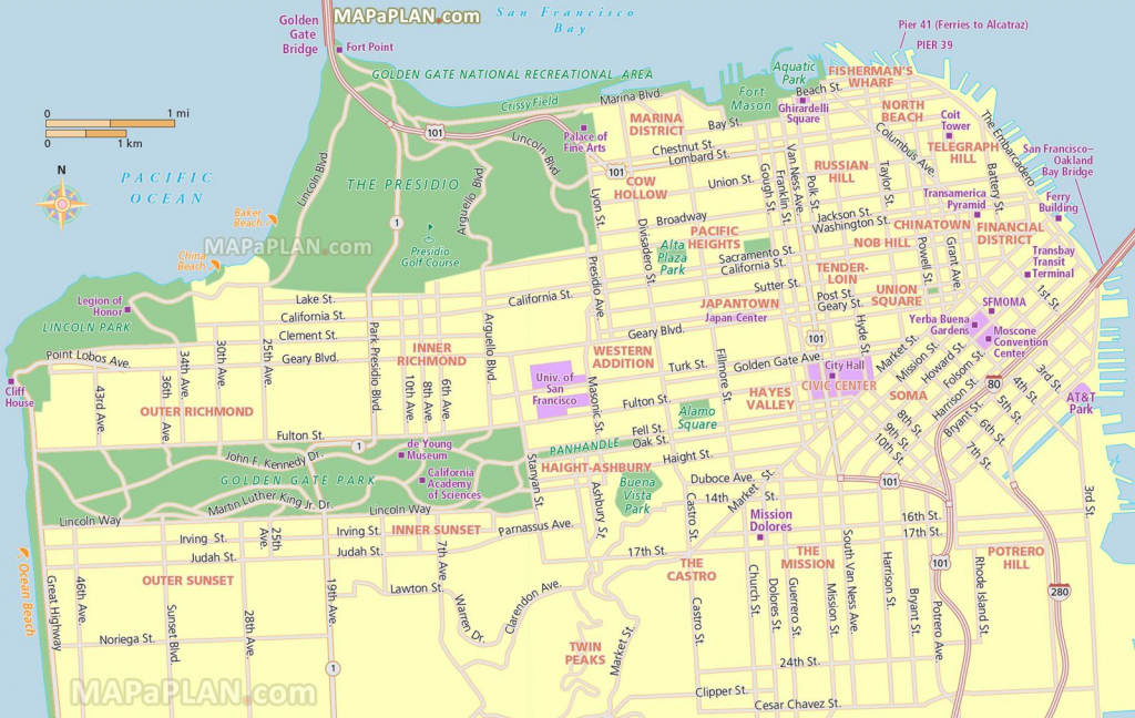 San Francisco Tourist Map Printable | San Francisco Map - What To within San Francisco Tourist Map Printable