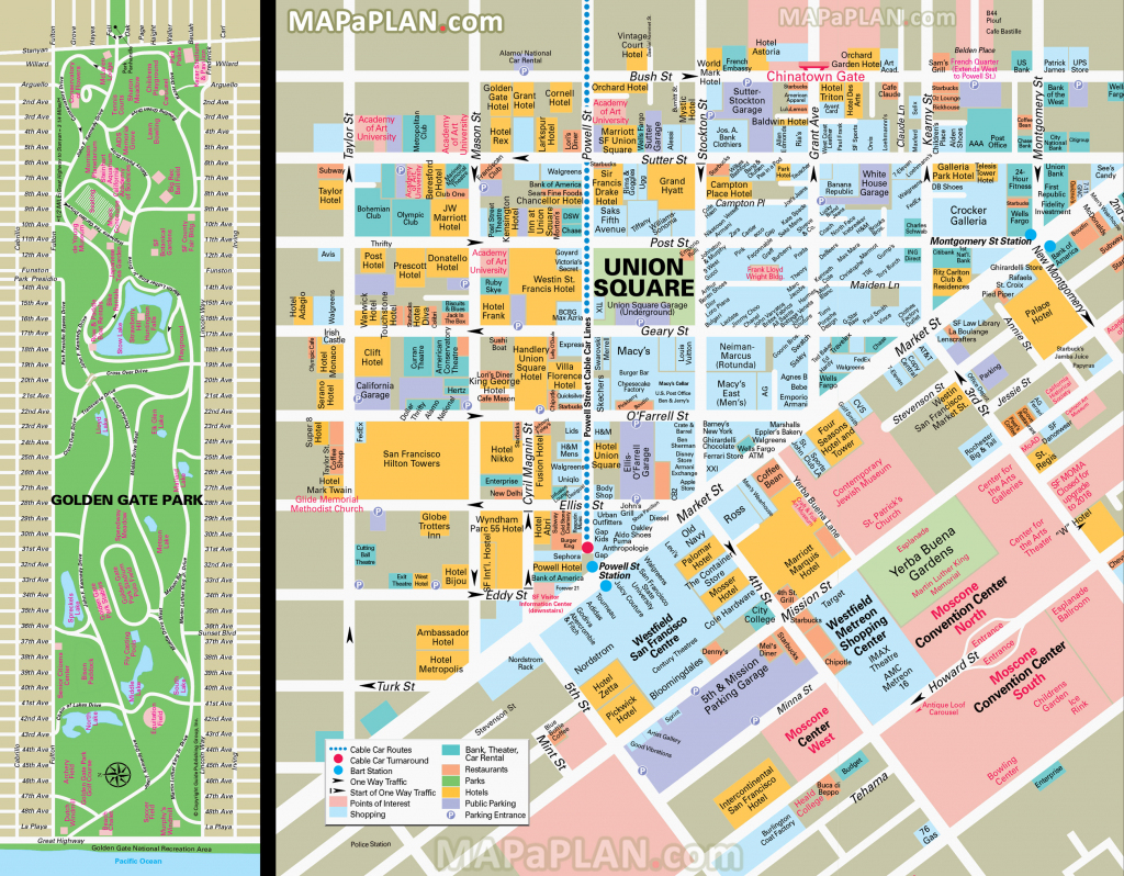 San Francisco Union Square Map Maps Top Tourist Attractions Free throughout Map Of San Francisco Attractions Printable