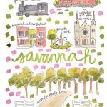 Savannah Map Print – Evelyn Henson Www.evelynhenson | Evelyn Within Printable Map Of Savannah