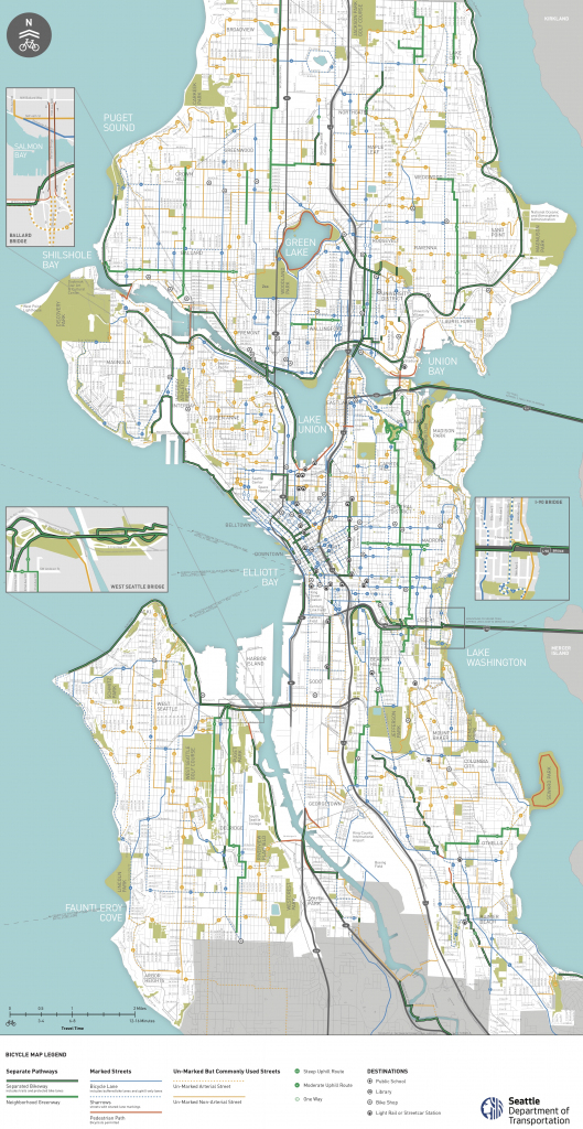 Seattle Area Bike Maps | Seattle Bike Blog in Printable Map Of Downtown Seattle