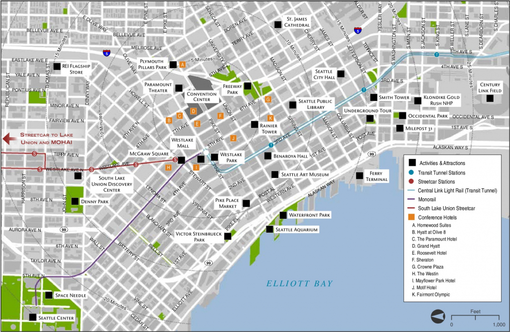 Seattle Maps | Washington, U.s. | Maps Of Seattle with Seattle Tourist Map Printable