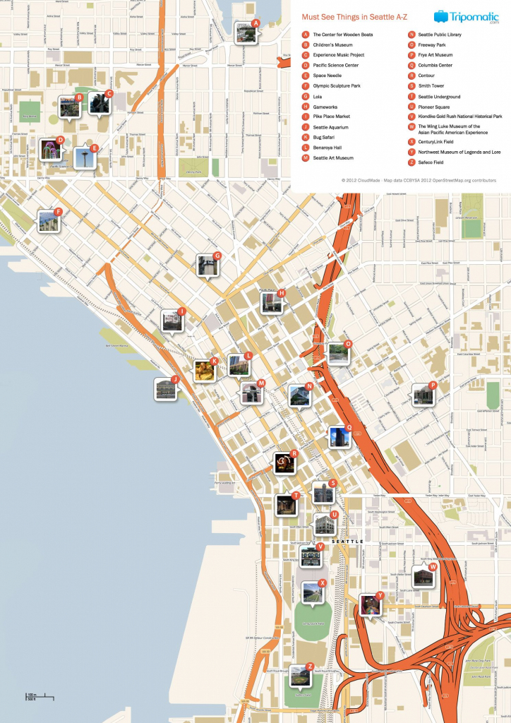 Seattle Printable Tourist Map | Free Tourist Maps ✈ | Seattle inside Printable Map Of Downtown Seattle