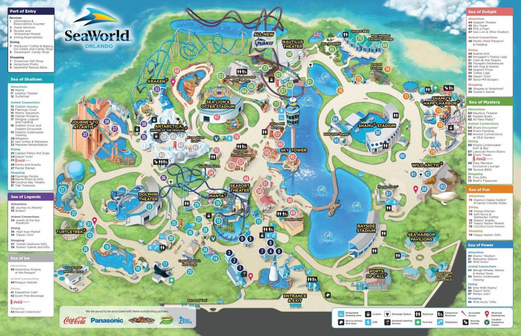 Seaworld Orlando Map - Map Of Seaworld (Florida - Usa) for Seaworld Orlando Map Printable
