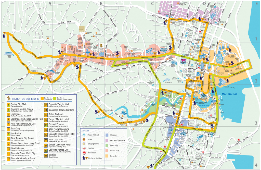 Singapore Map - Detailed City And Metro Maps Of Singapore For for Singapore City Map Printable