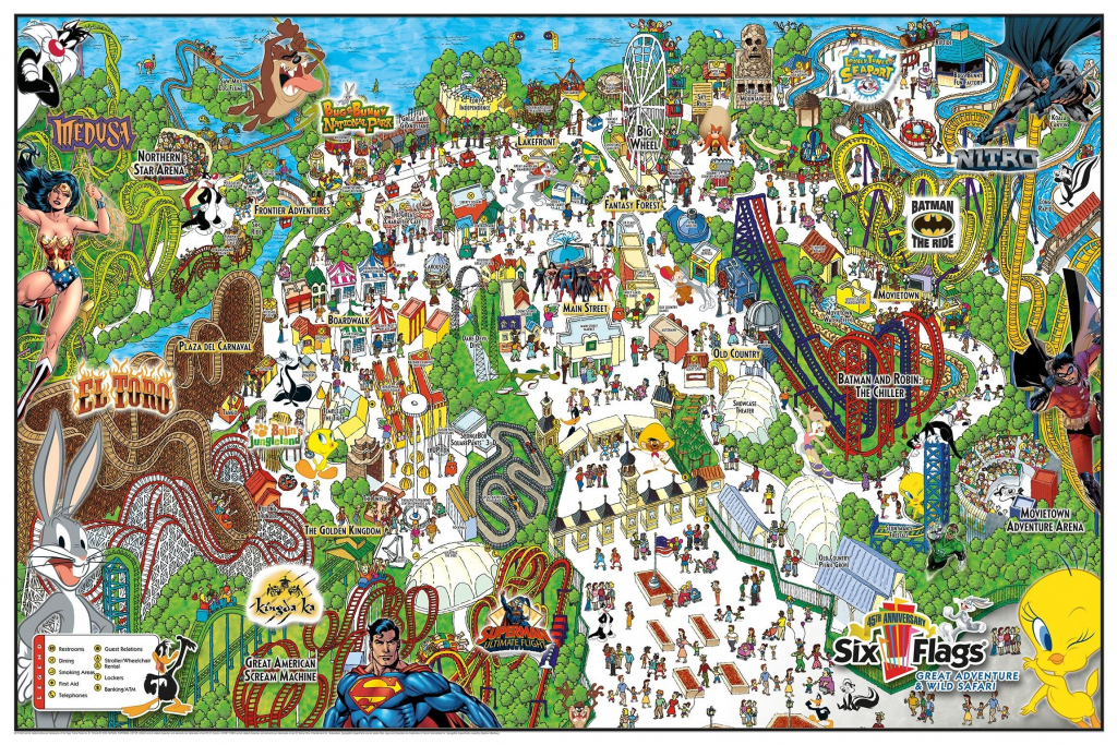 Six Flags Great Adventure & Wild Safari Map. | Vacations & Traveling inside Six Flags Great America Printable Park Map
