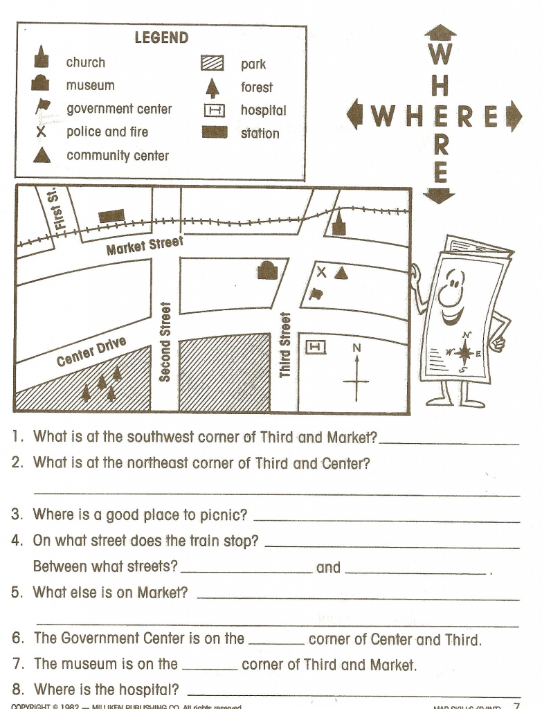 Social Studies Worksheets - Google Search | Social Studies | Map for Map Symbols For Kids Printables