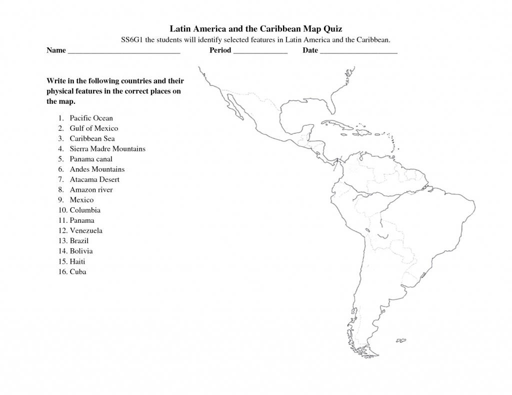 South America Free Maps Blank Outline And Central Map Quiz Zarzosa with Free Printable Map Of South America