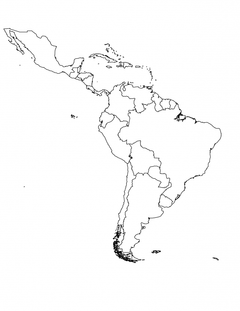 South America Map Blank Daway Dabrowa Co Beauteous Unlabeled 8 Of for Blank Map Of Central And South America Printable