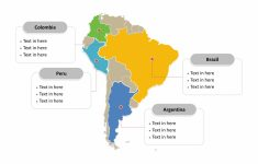 South America Map Free Templates – Free Powerpoint Templates in Free Printable Map Of South America