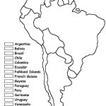 South America Unit W/ Free Printables | Homeschooling | Geography Within Free Printable Outline Map Of North America