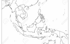 Printable Blank Map Of Southeast Asia