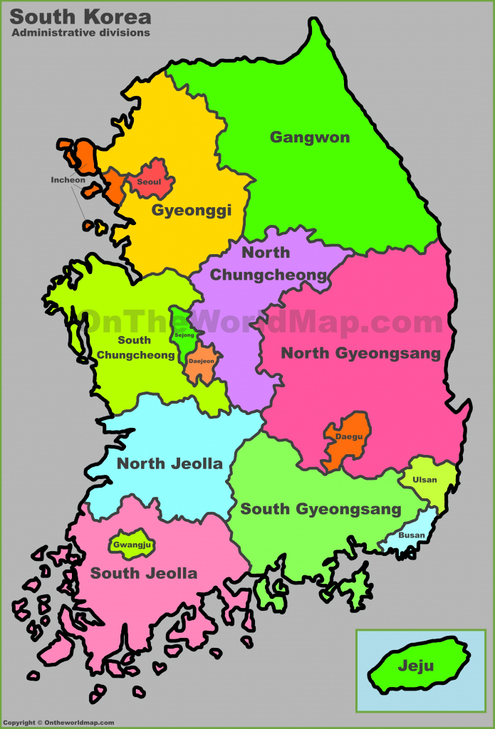 South Korea Maps | Maps Of South Korea (Republic Of Korea) inside Printable Map Of Korea