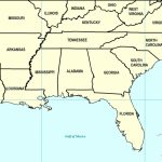Southeast Us Map Printable New Southeast Us States Blank Map For Printable Map Of Southeast Us