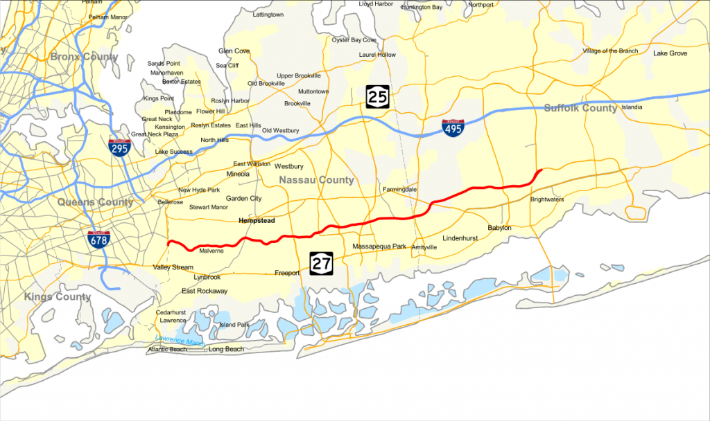 Southern State Parkway - Wikipedia inside Printable Map Of Long Island Ny