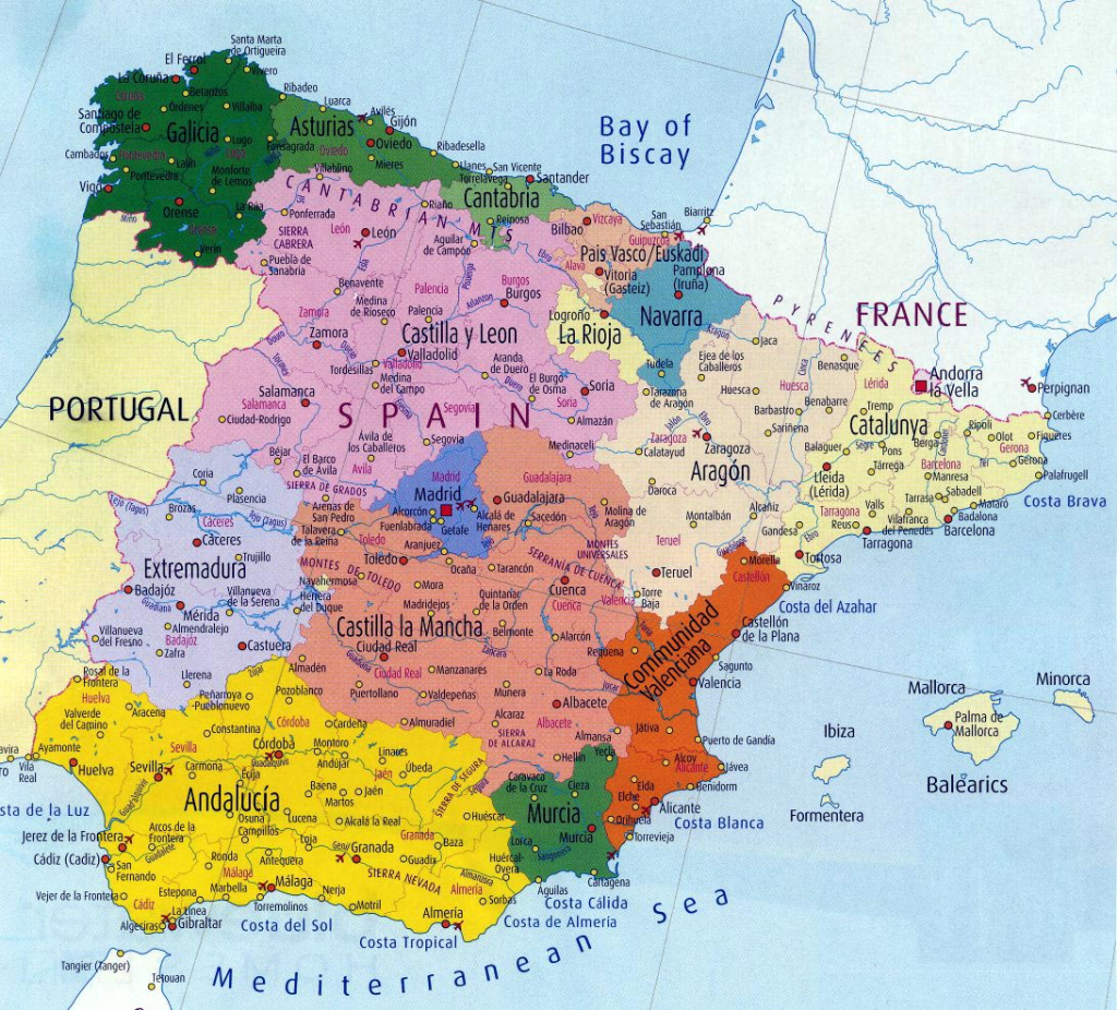 Spain Maps | Printable Maps Of Spain For Download within Printable Map Of Spain