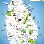 Sri Lanka Travel Map With Printable Map Of Sri Lanka