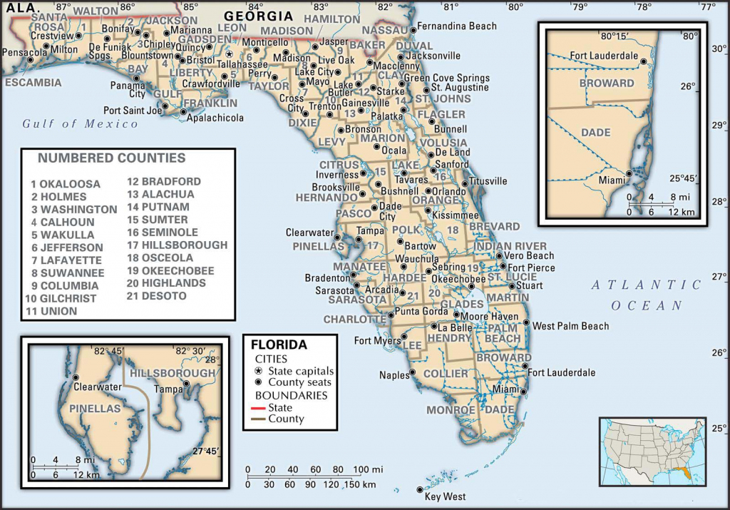 State And County Maps Of Florida within Florida County Map Printable