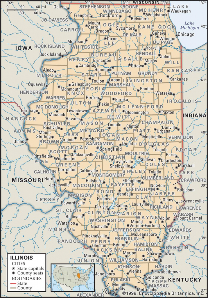 State And County Maps Of Illinois with Illinois County Map Printable